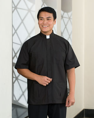 almy's panama clergy shirt