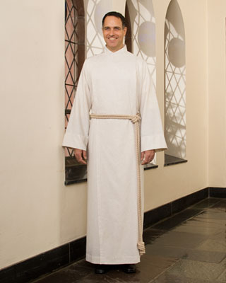 flax cassock-alb for men