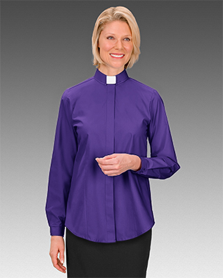 Cm Almy Bishop S Button Front Long Sleeve Tab Collar Blouse