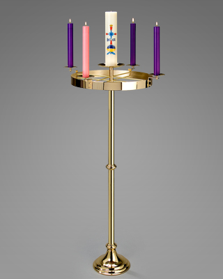 level-top floor standing advent candelabrum
