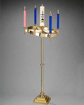 pivoting-top floor standing advent candelabrum