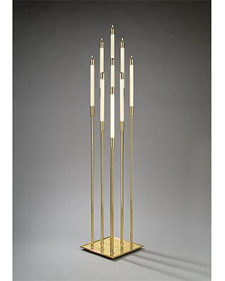 nine light multi-level floor candelabrum