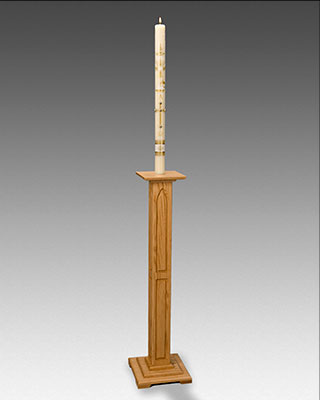 Cm Almy Gothic Wood Paschal Candlestick