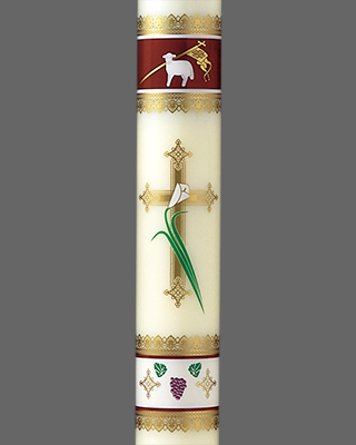 Cm Almy Easter Joy Liquid Paschal Candle